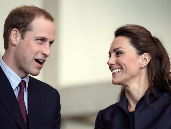 Die zukünftigen Eltern Prinz William und Kate