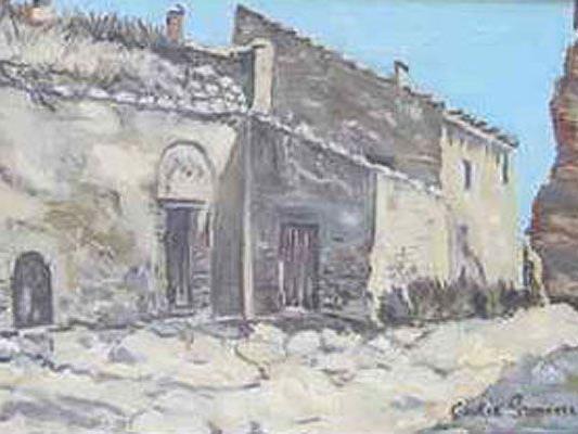 """""""Las Bodegas de Borja"""" von Cecilia Gimenez war den Bietern 1080 Euro wert."""