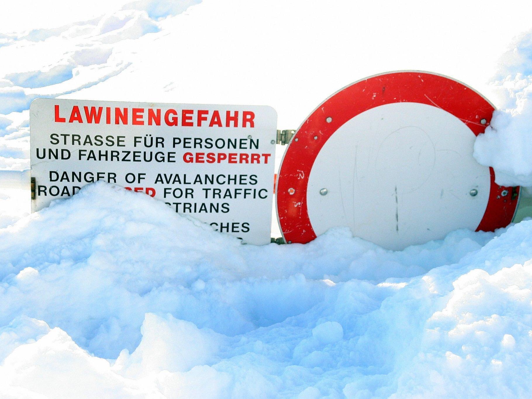 Am Arlberg herrscht derzeit erhebliche Lawinengefahr