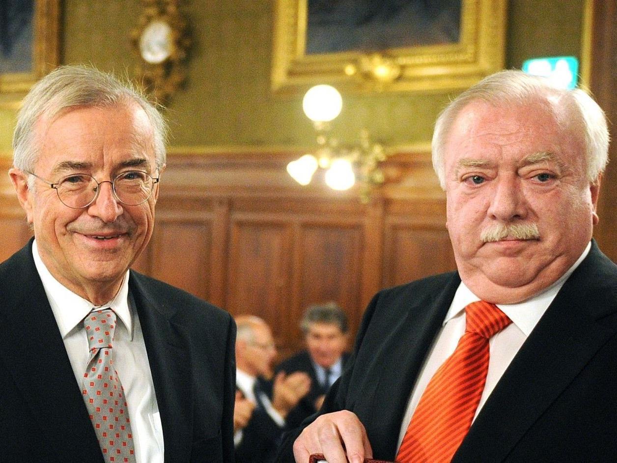 Alt-Landeshauptmann Herbert Sausgruber mit Bürgermeister Michael Häupl.
