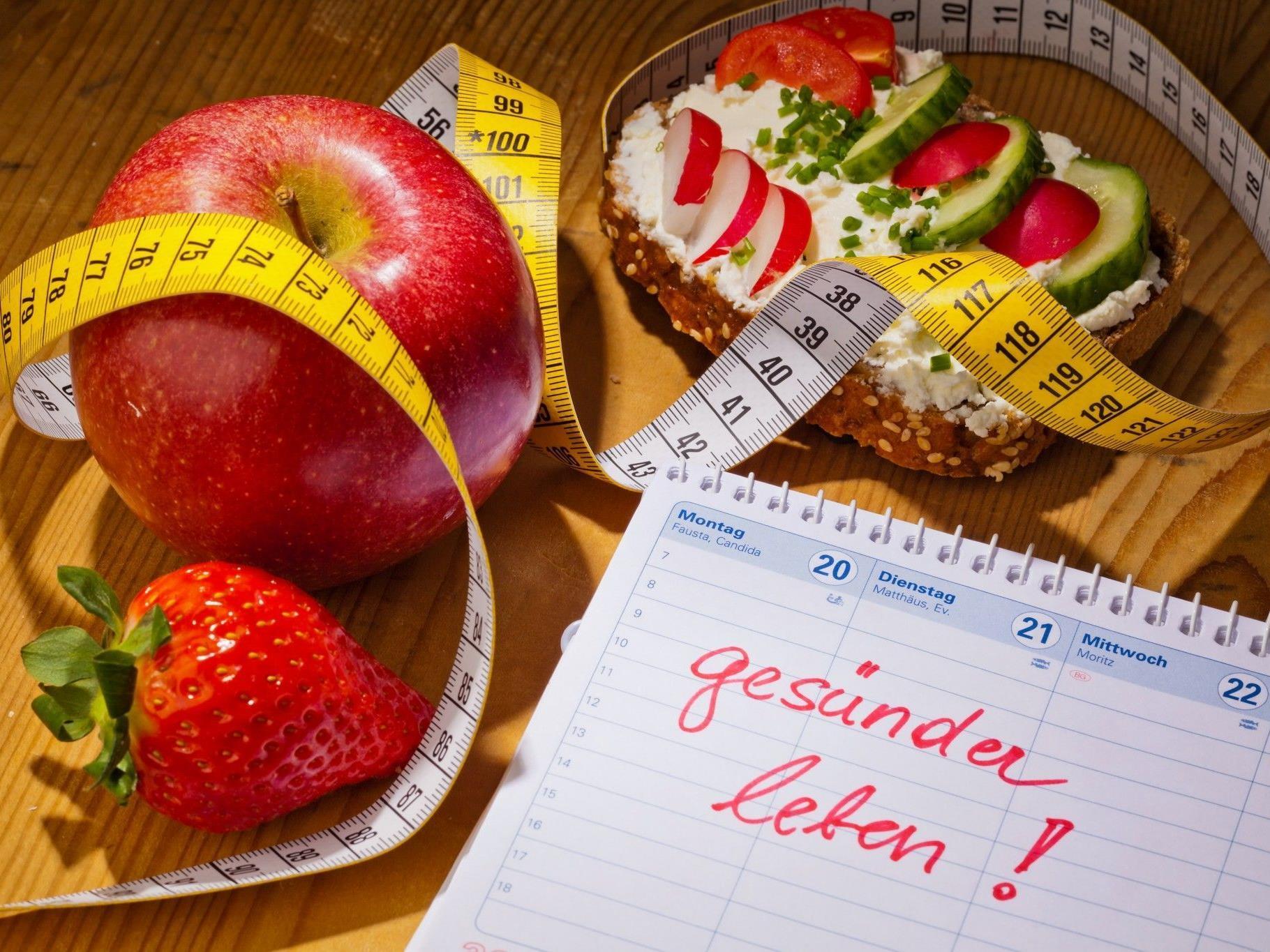 Gesündere Ernährung steht - wie jedes Jahr - ganz oben auf der Liste.