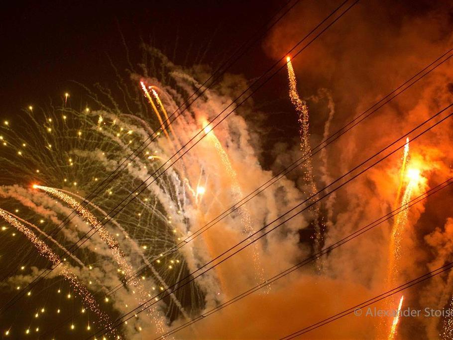 Feuerwerk - schön, aber gefährlich in fachunkundigen Händen.