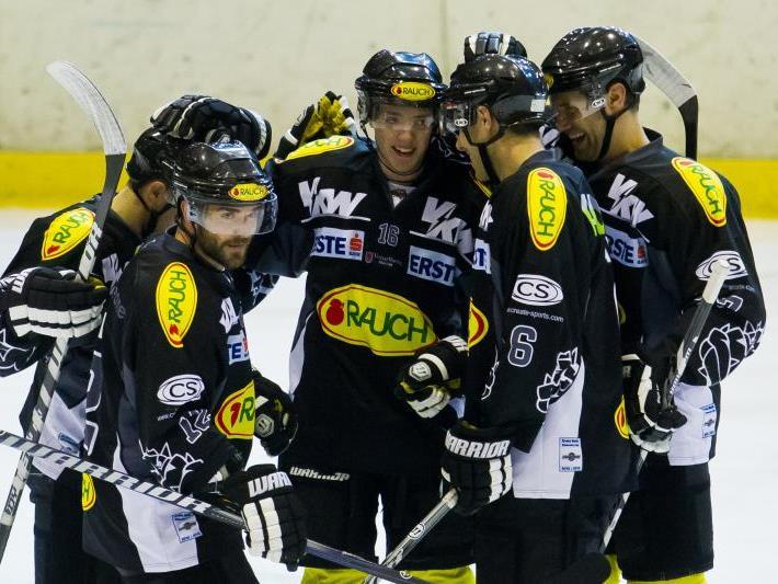 Vier Mal durfte der EC Dornbirn jubeln, am Ende setzte es die erste Niederlage gegen Innsbruck.