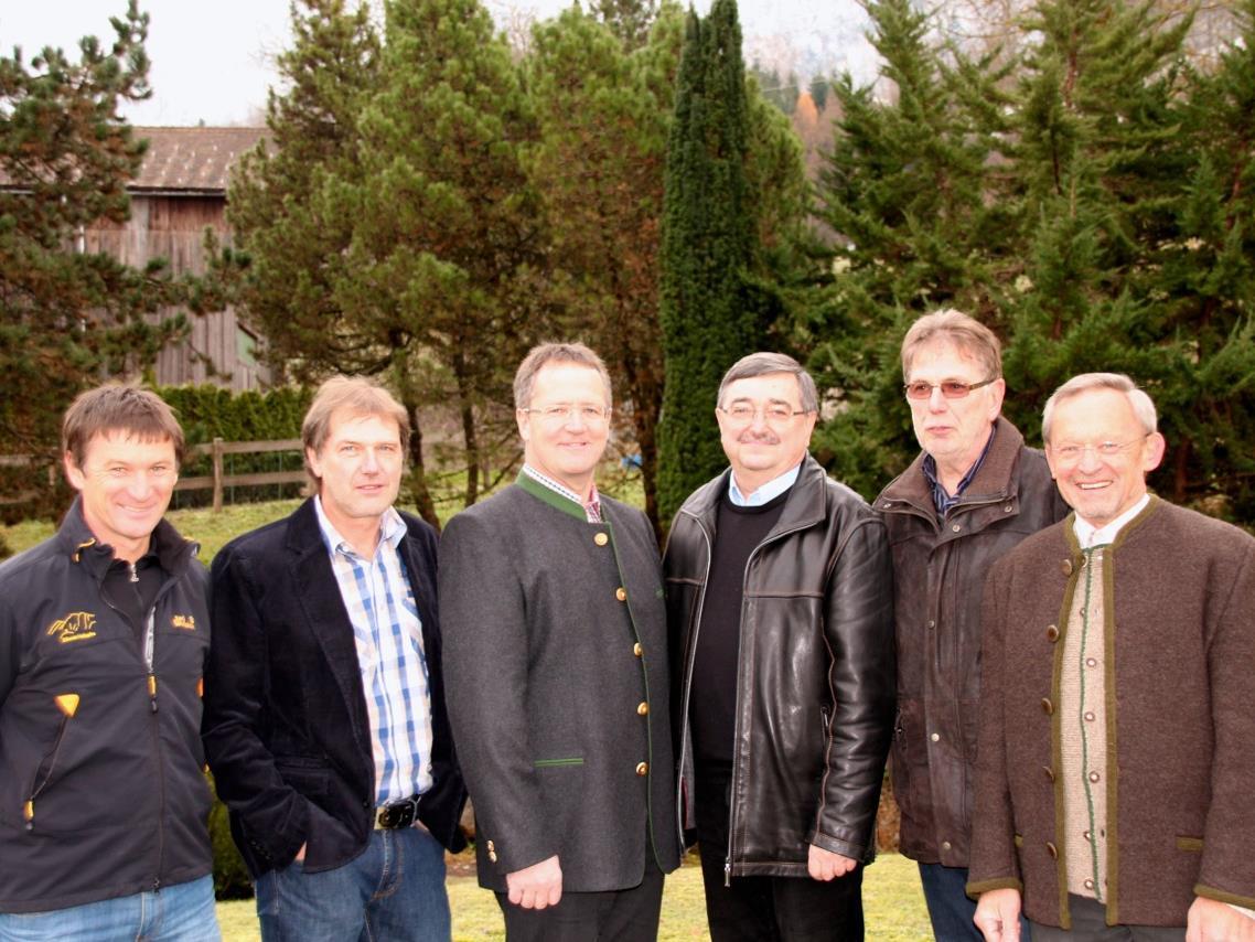 Agrar-Vorstand: Erich Decet, Johann Burtscher, Josef Latzer, Hans Maier, Herbert Greussing und Hannes Albrecht.