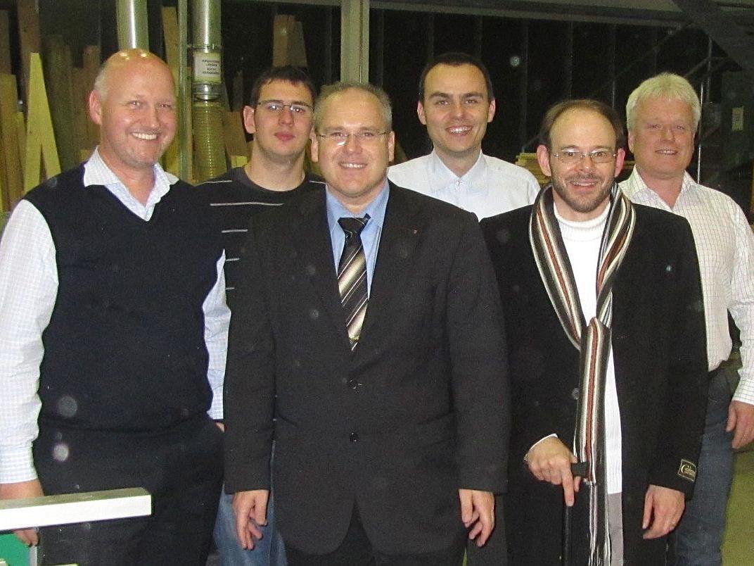 v.l.n.r.: Dr. Thomas Geiger, Rainer Heinzle, Obmann Karl Lang, Oliver Natter, Hubert Lamprecht, Manfred Wiedenbauer