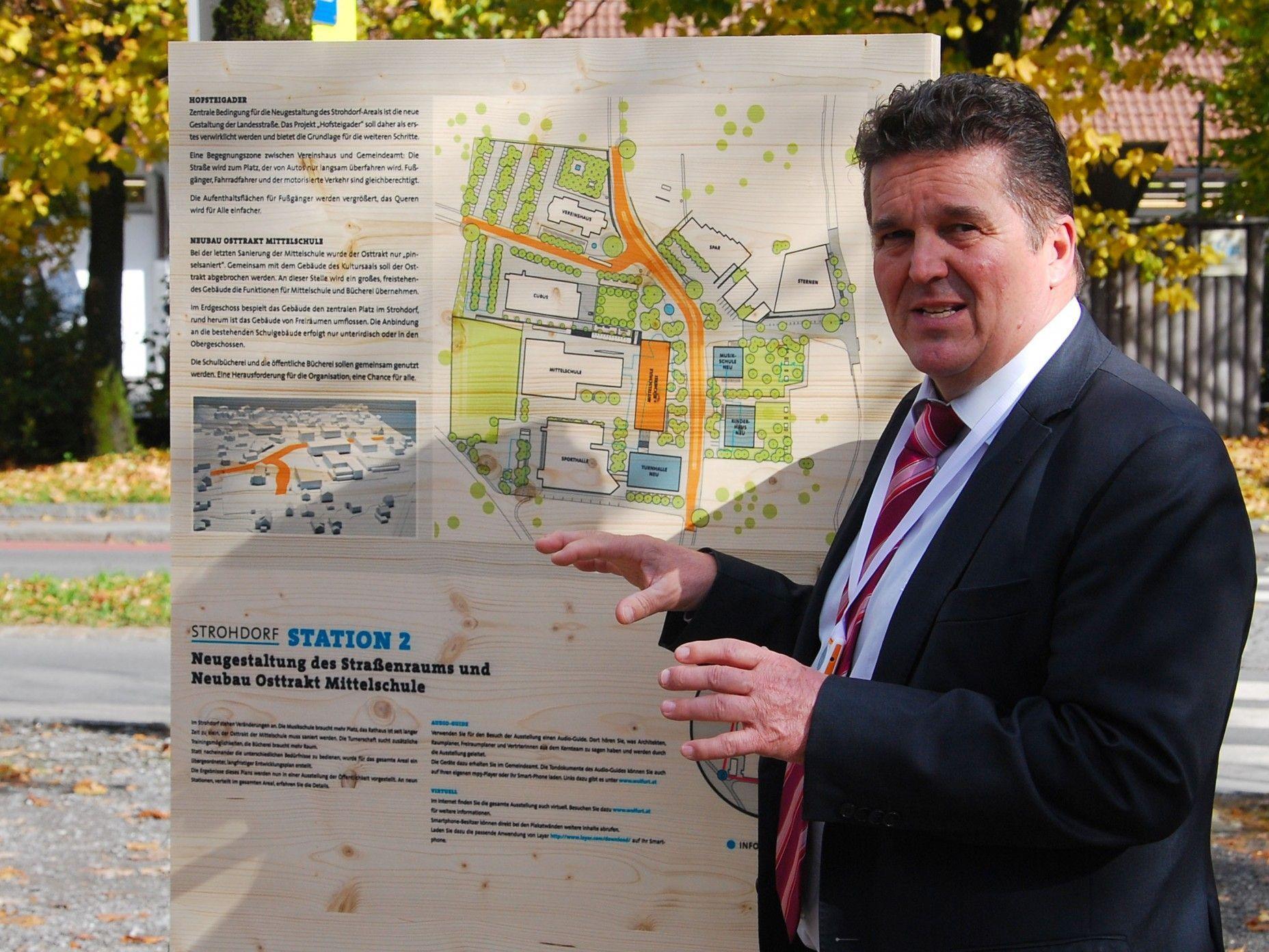 Bürgermeister Christian Natter freuit sich über den einstimmigen Beschluss zum Masterplan Strohdorf.
