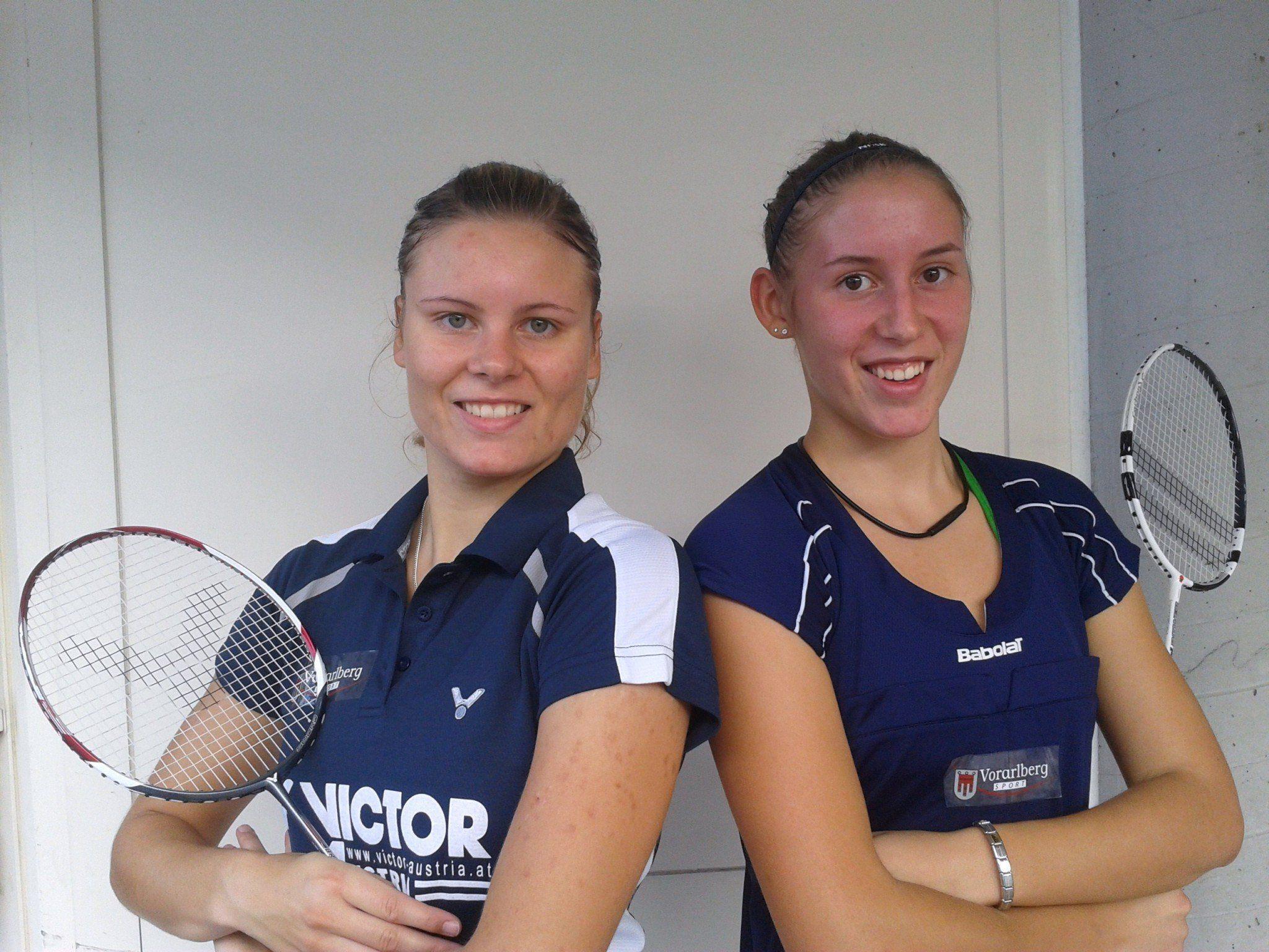 Sarina Kohlfürst und Nathalie Ziesig vom BCM Feldkirch