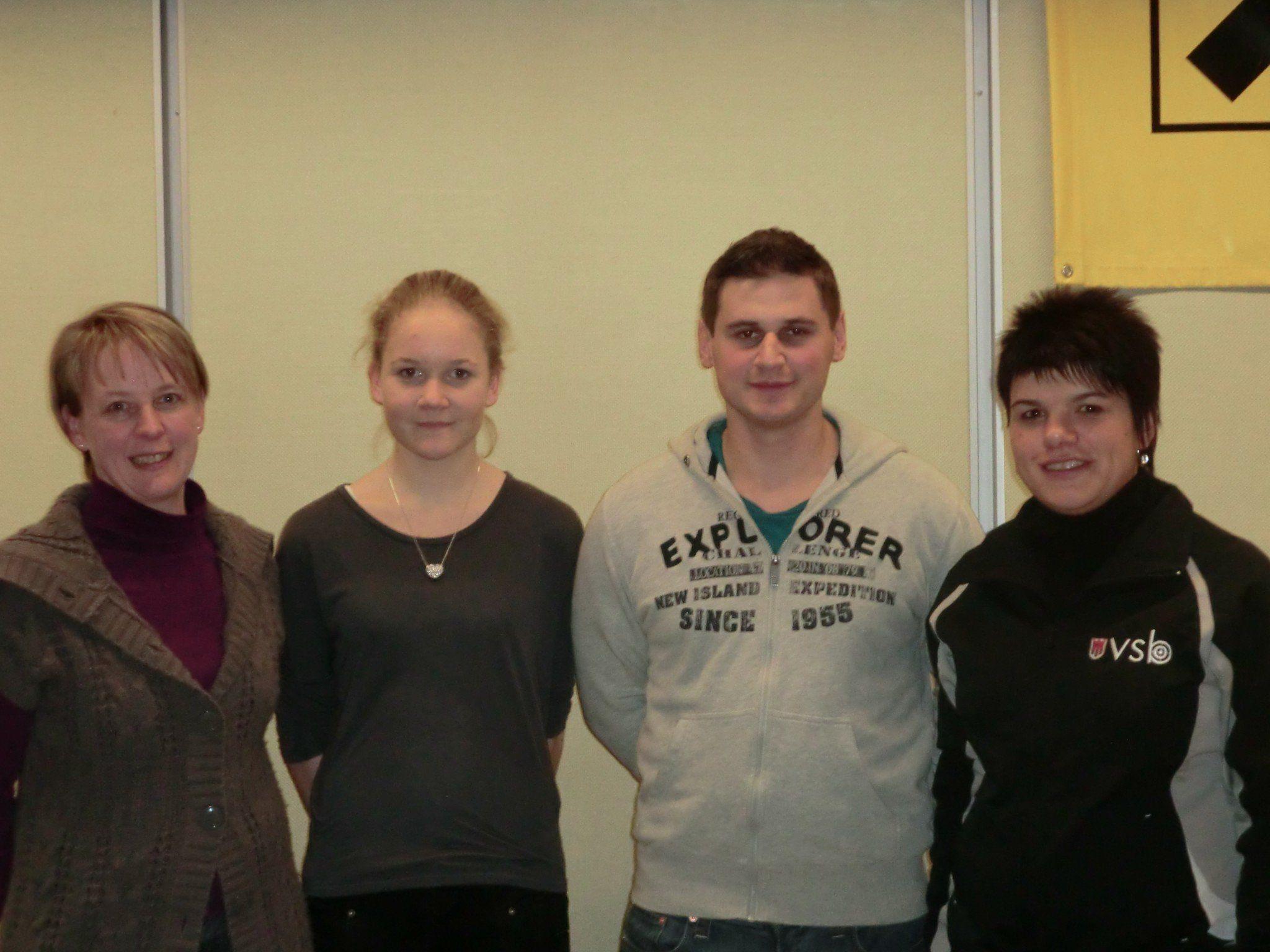 Bild v.l.n.r. Metzler Waltraud, Egender Biana, Fink Christian, Rüscher Katja