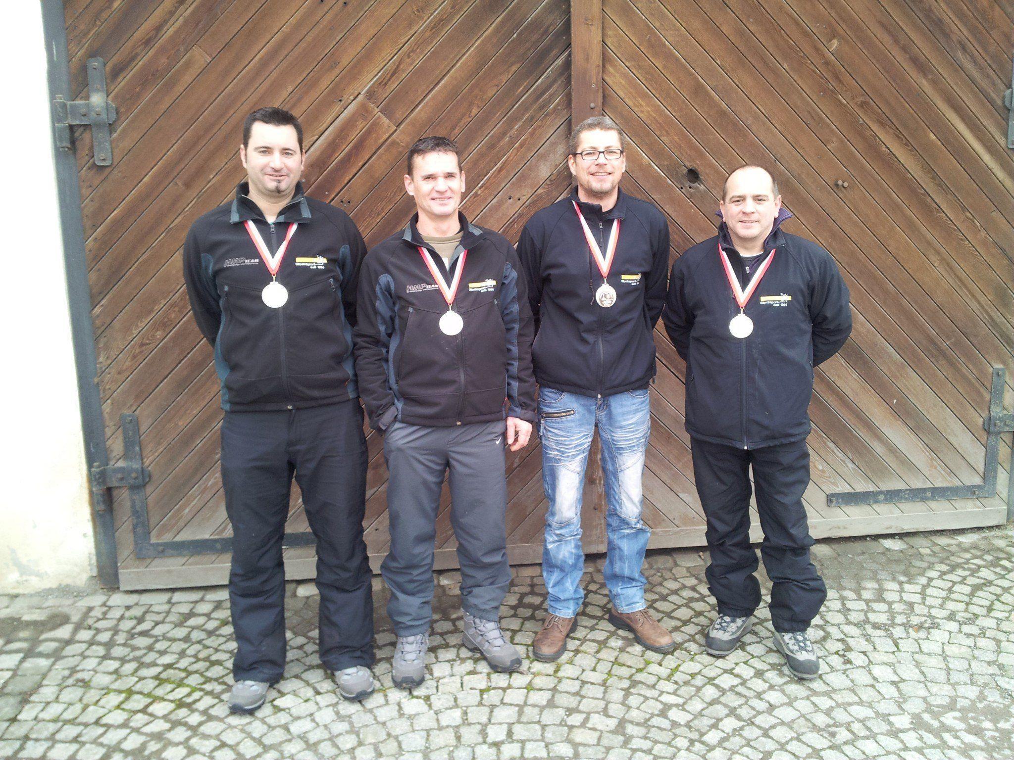 Das erfolgreiche Team: Robert Pienz, Harald Rüscher, Wolfgang Gorbach, Hannes Tscherner