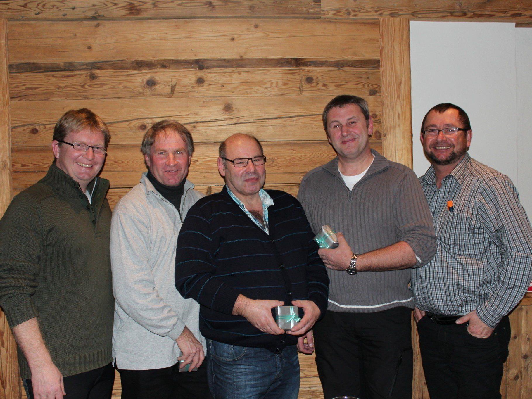 Geschäftsführer Günter Oberhauser, Karl Weissenbach, Günther Moosbrugger, Andreas Ulsess und Klaus Frey (von links nach rechts).