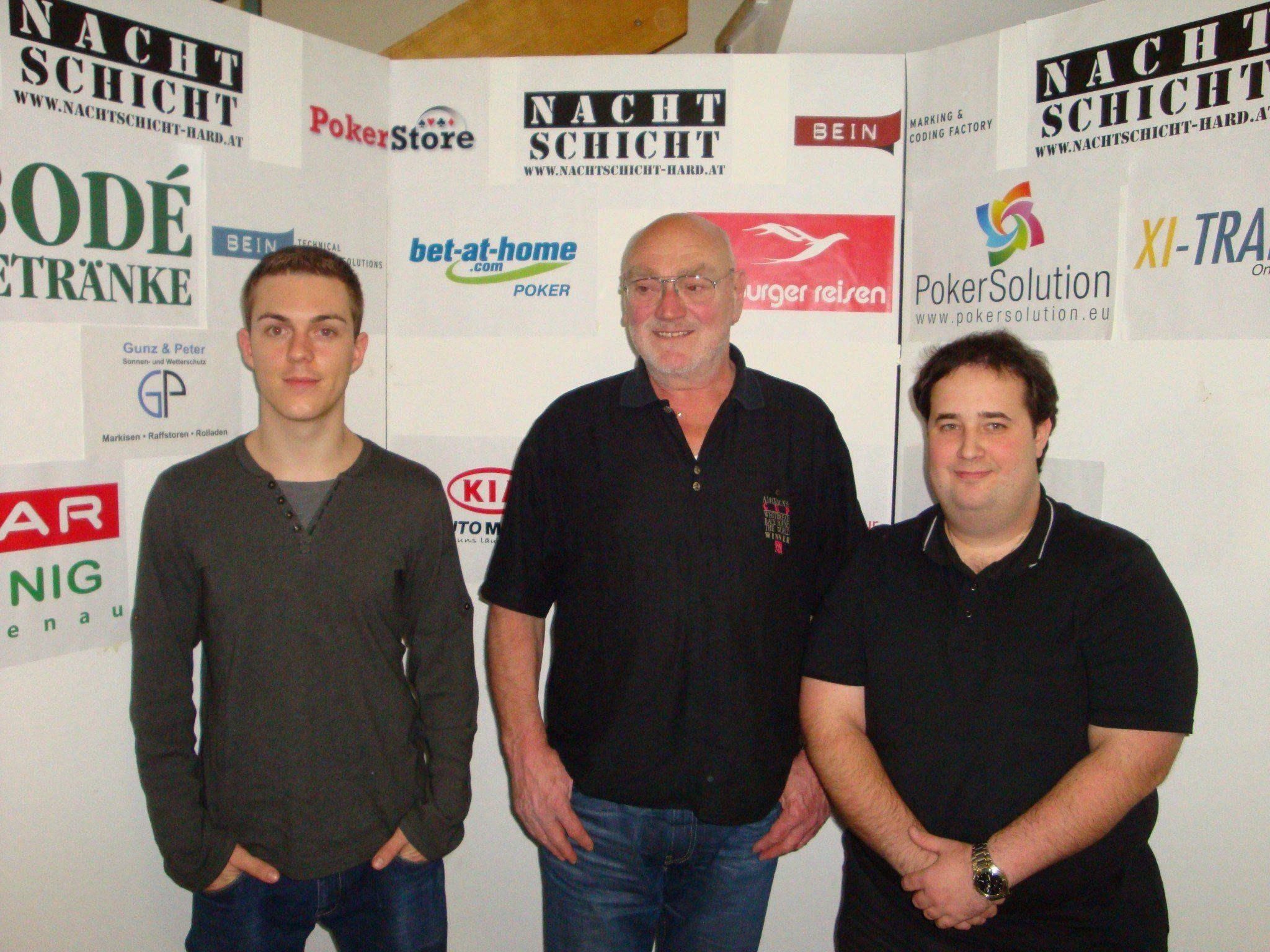 Das Siegerfoto (v.l.n.r.): Thomas Linher, Gerd Kirchberger und Martin Ferk