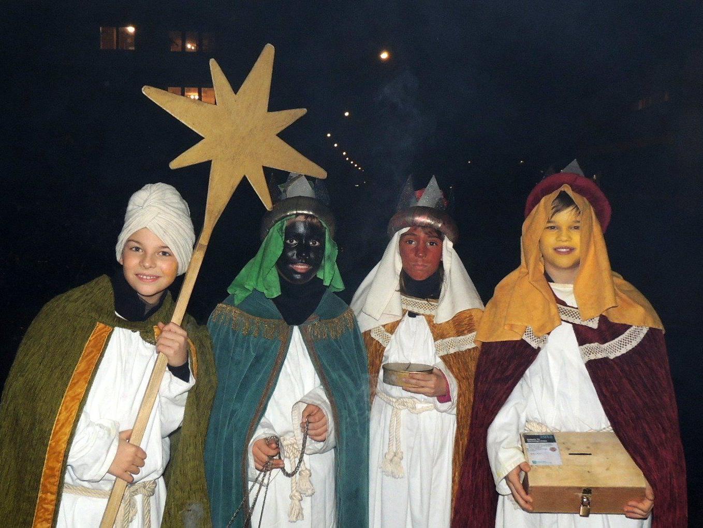 Lukas, Johannes,  Franzisca und Daniel brachten frohe  Botschaft