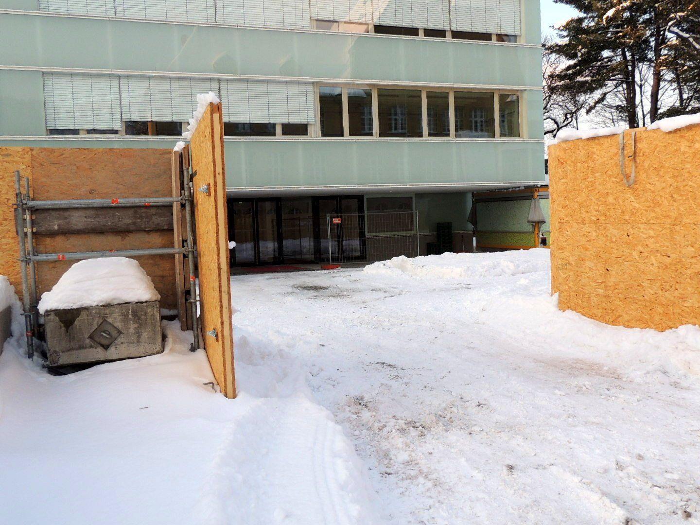 Zugang zum Neubau des BG Gallus