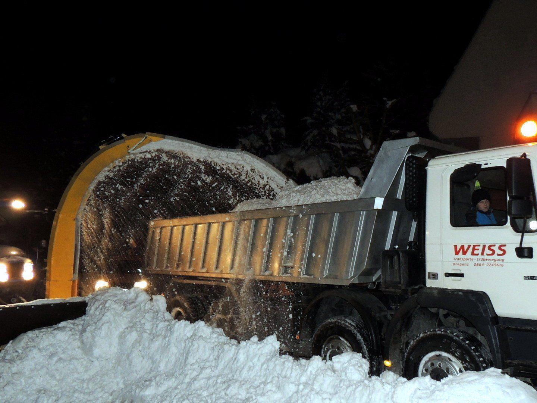 Schneefräsen im Einsatz