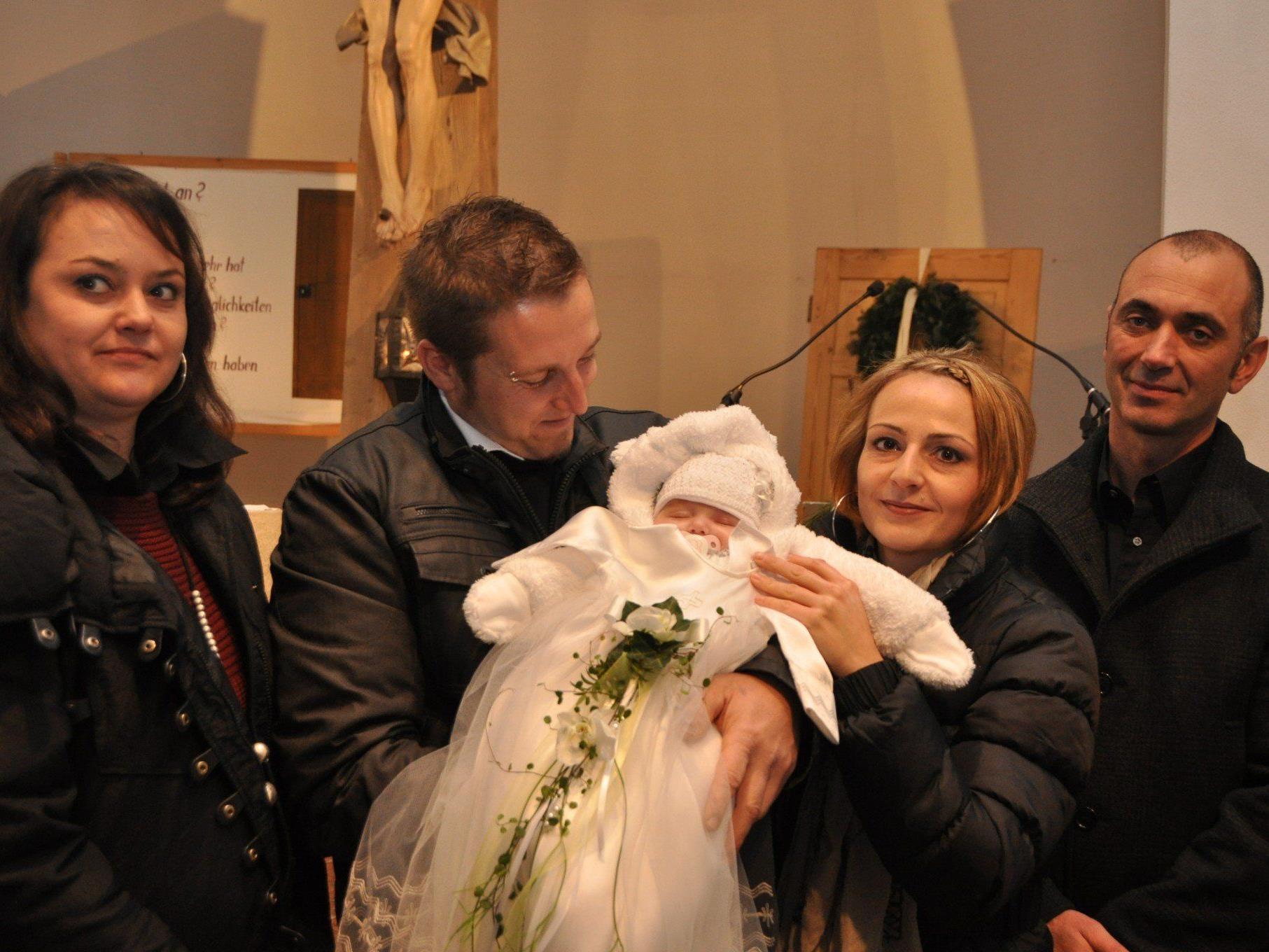 Taufe von Emilia Marie in Batschuns.