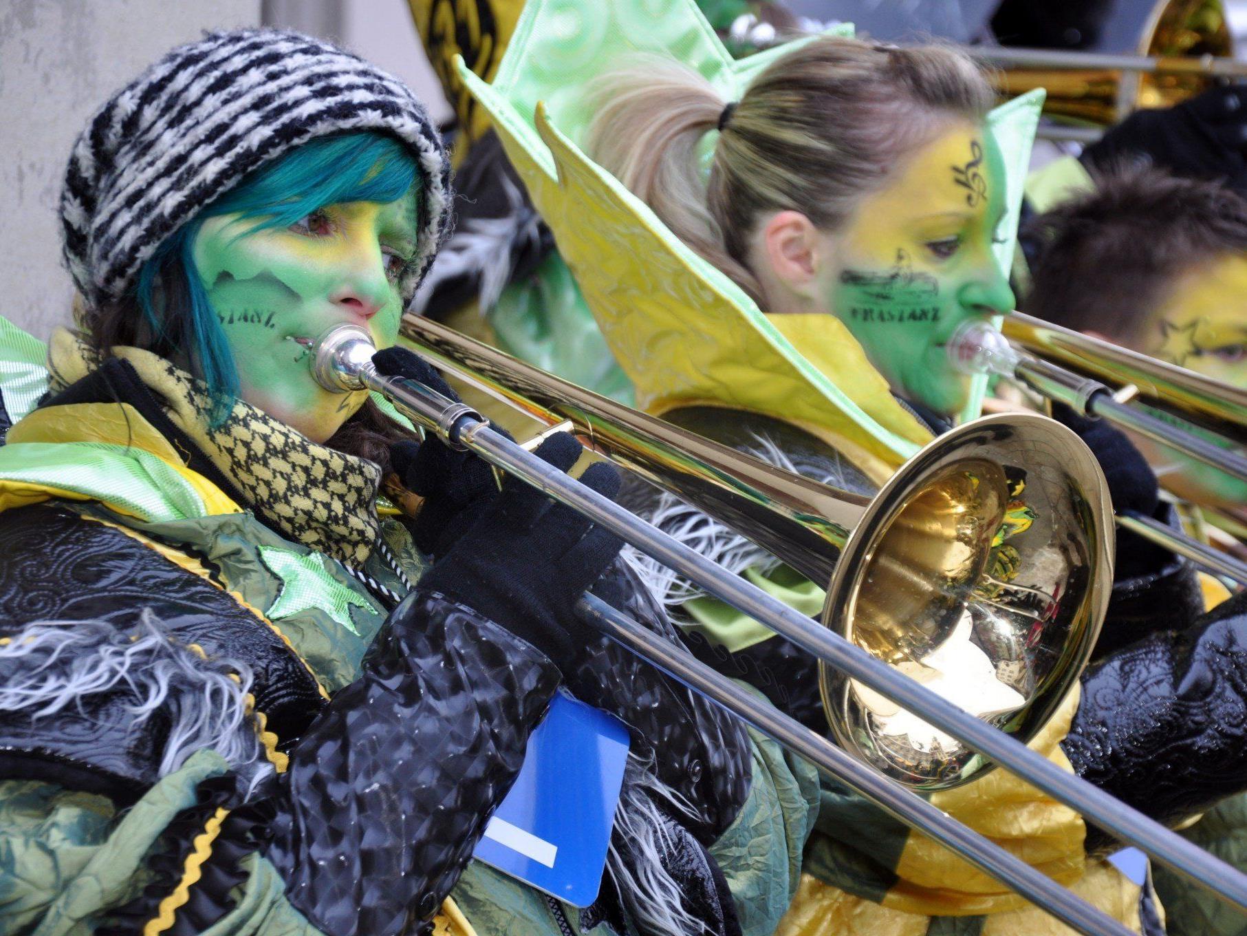 14 Musikformationen trafen sich beim Monsterkonzert in Dornbirn.
