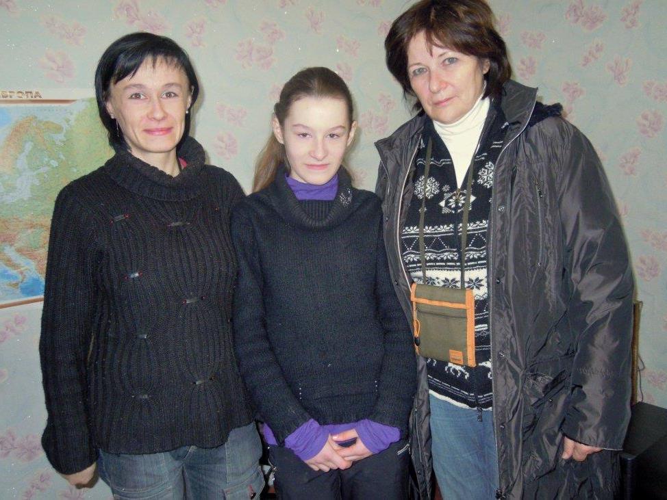 Elfi Meusburger beim Familienbesuch in Swetlogorsk