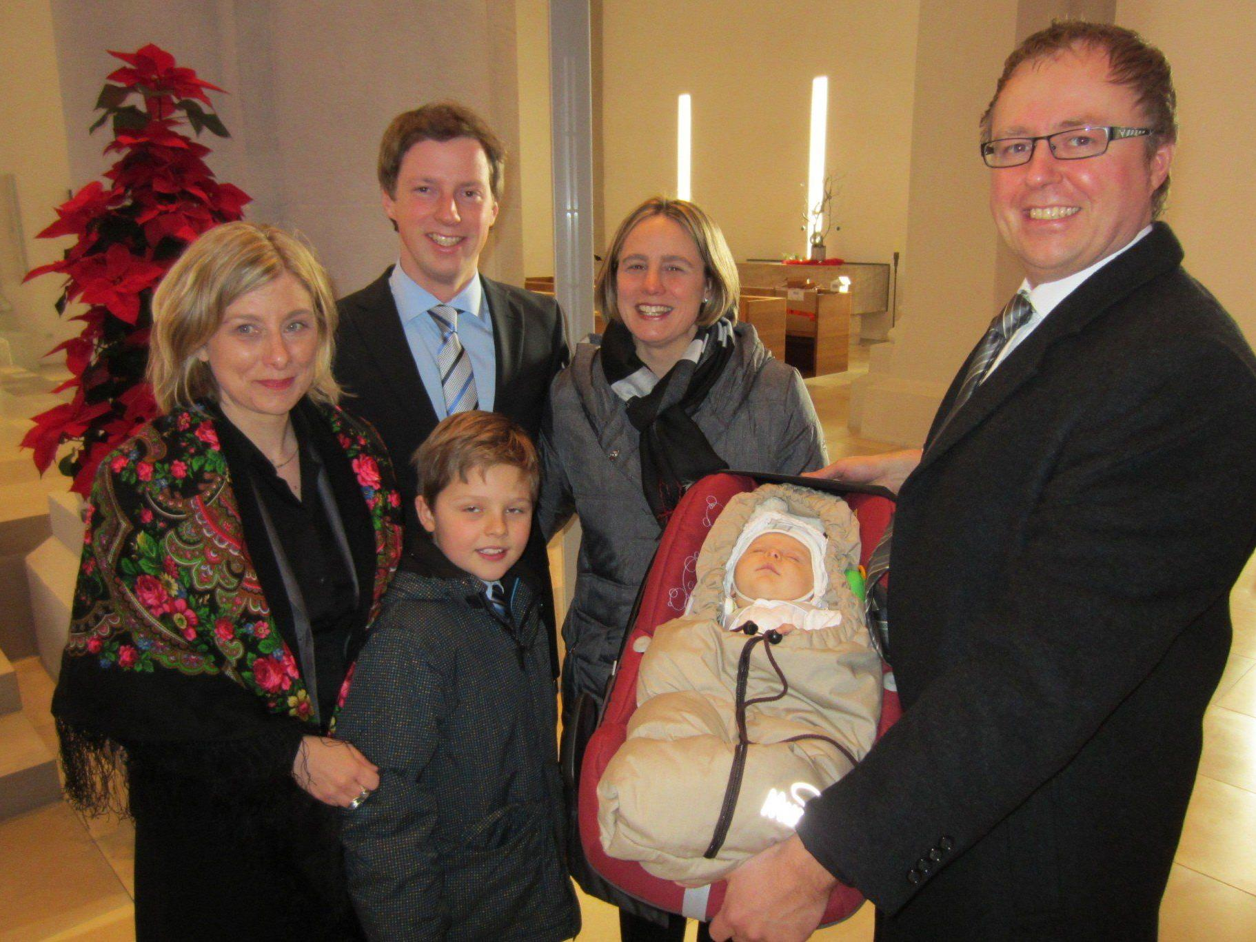 Vinzent Max Hug wurde getauft.