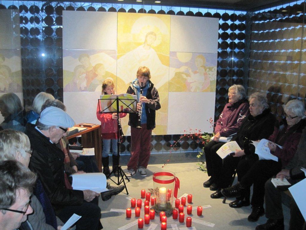 Besinnliche Sonntagsvesper für die Familien in der Fraxner Familienkapelle am 30. Dezember 2012.