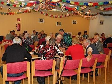 Die Pensionisten im vollbesetzten Clubheim
