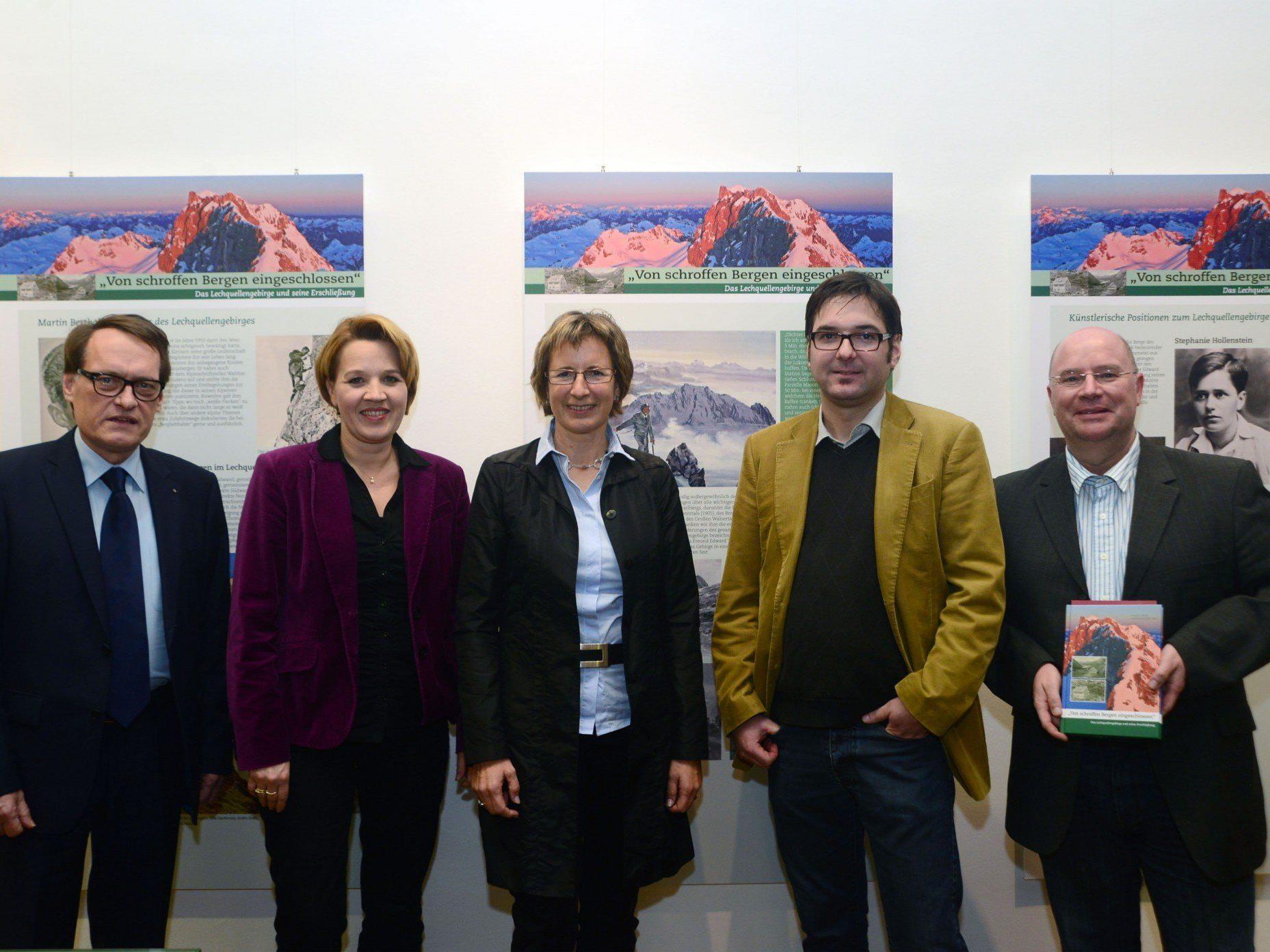 Eröffnung der Ausstellung über die Erschließung des Lechquellengebirges.