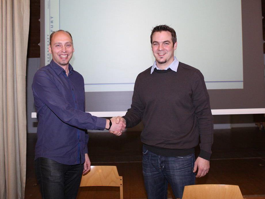 Martin Stenzel (links) übergab die Vereinsleitung an Johannes Böhler.