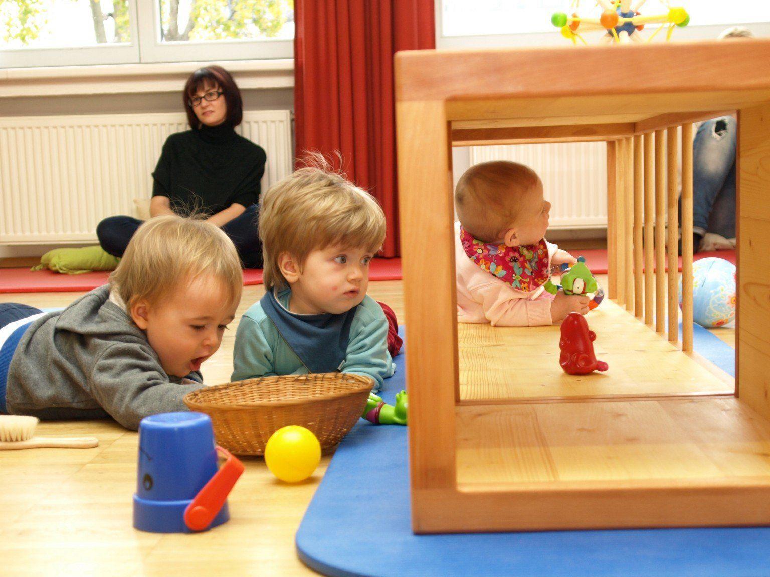 Die Krabbel-Elki Gruppen sind ein Riesenspaß - für die Kinder, wie auch deren Begleiter.