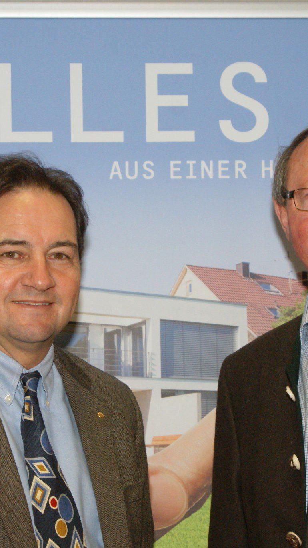 Thomas Peter, Geschäftsführer der Vorarlberger Bauinnung, mit Innungsmeister DI Franz Drexel.