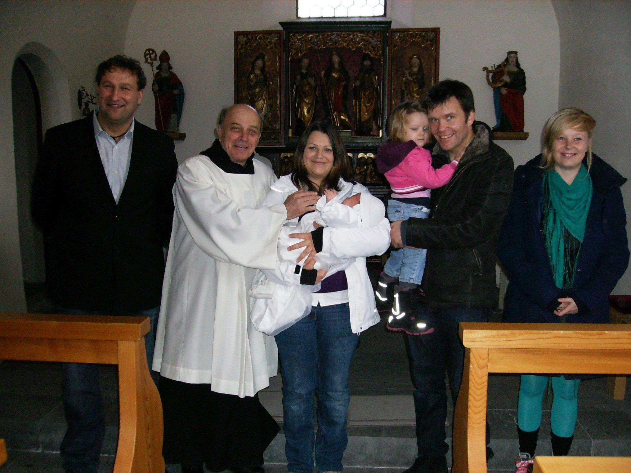 Chiara Michaela Sagmeister wurde in der St. Vinerkirche getauft