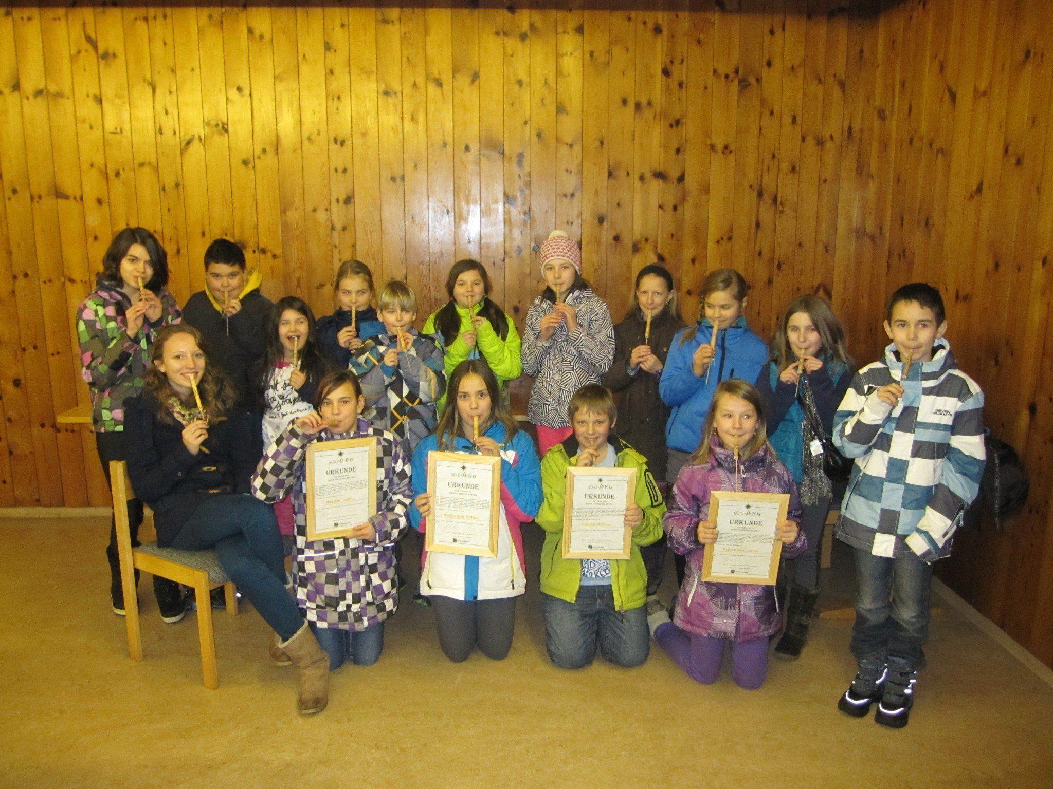 Die Sternsingerkinder von Vandans sammelten 2013 ca. 6.200 Euro für Projekte in Afrika.