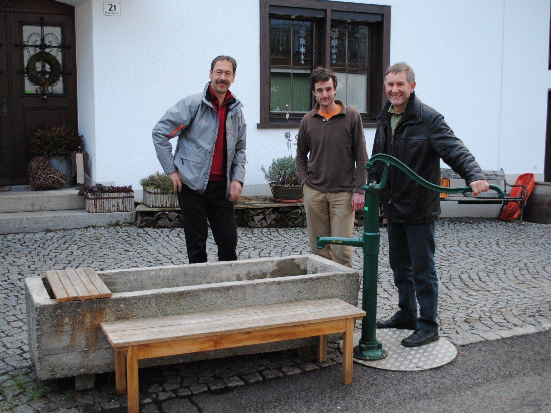 OV Norbert Bertsch, Siegfried Lerchbaumer und Willi Schneller
