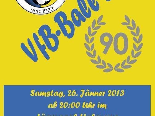 Am 26. Januar 2013 findet der VfB-Ball im Löwensaal Hohenems statt