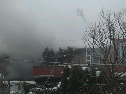 Am Montag kam es im Bezirk Baden zu einem Großbrand.