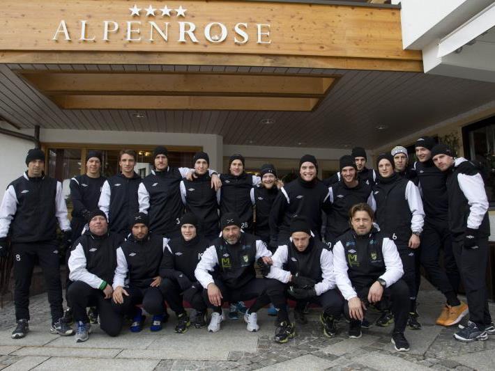 Erstliga Tabellenführer Austria Lustenau weilt für vier Tage in Au und sucht dort nach Abwechslung.