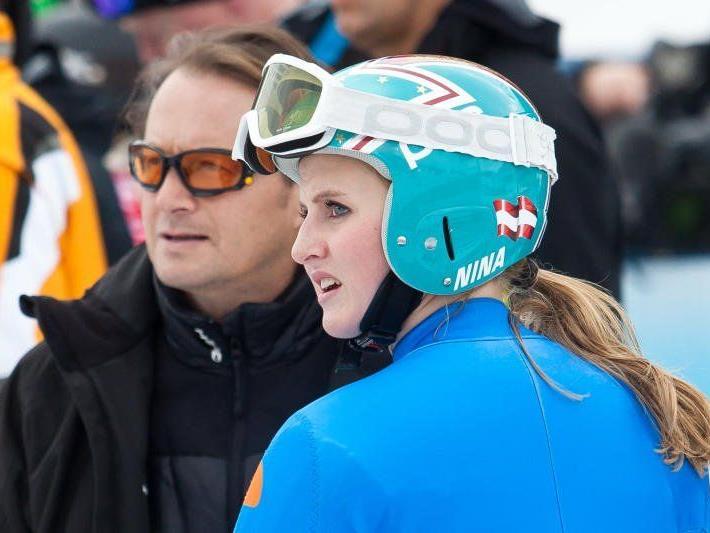 Nina Ortlieb wurde bei der zweiten EC Abfahrt Siebzehnte.