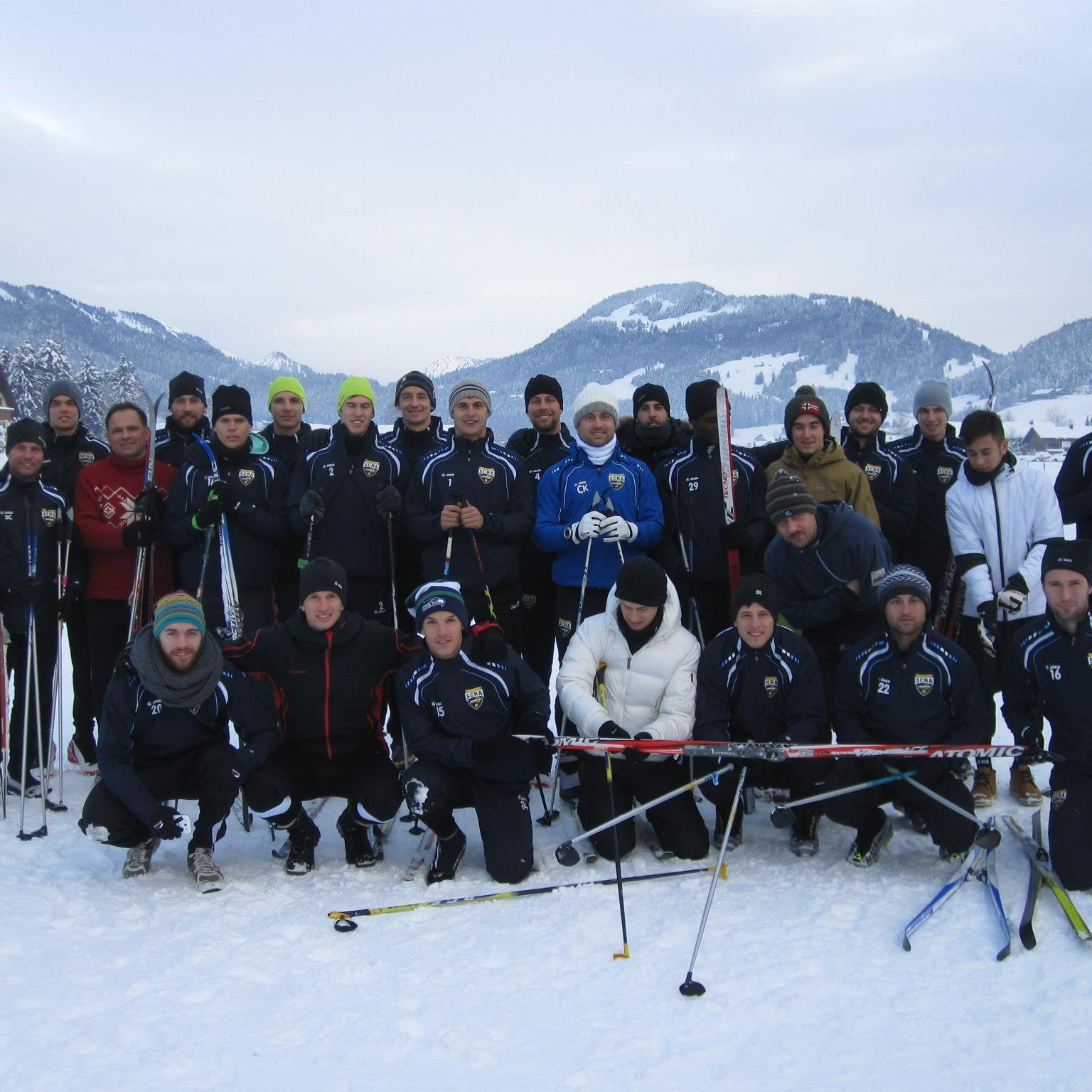 Teambuilding des SCR Altach im Bregenzerwald mit Neocoach Damir Canadi.