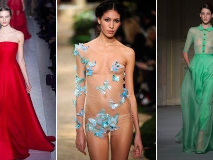 Viel nackte Haut gab es bei der Pariser Fashion Week zu sehen.