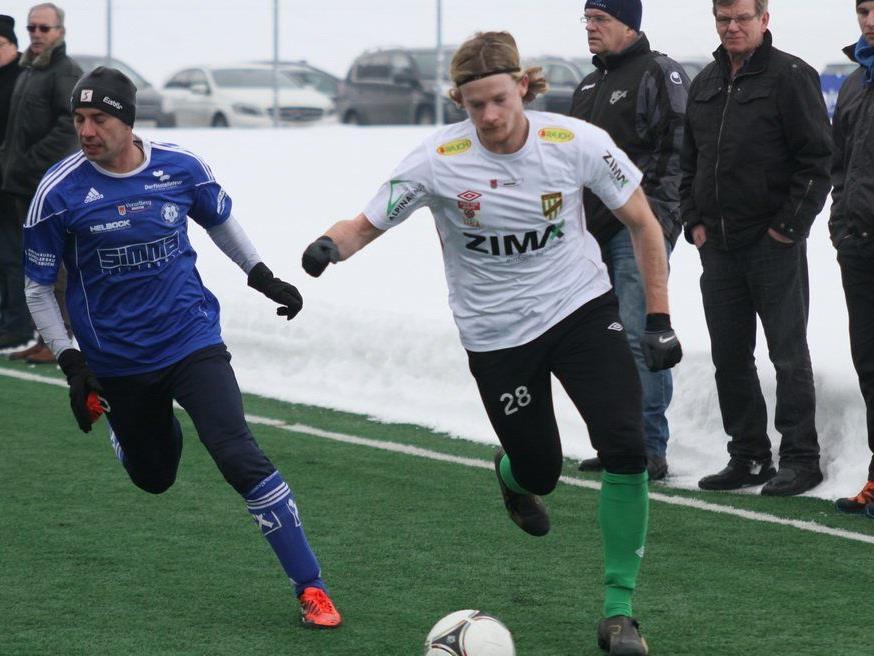 Sascha Boller schoss das 3:0 für Austria Lustenau im Test gegen ein ersatzgeschwächtes Andelsbuch.