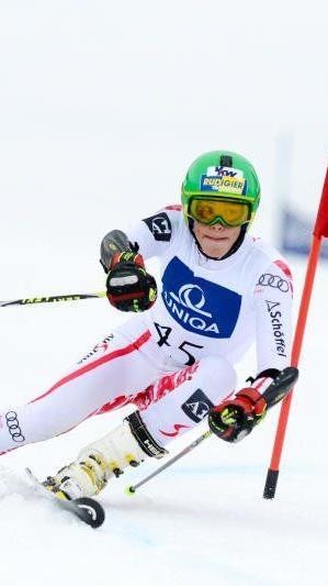 Der Schrunser Pascal Fritz fuhr in beiden Rennen beim Junior Race in Kitzbühel die schnellste Zeit.