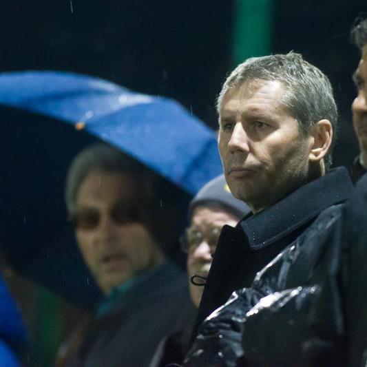 FCL-Präsident Dieter Sperger war interessierter Beobachter im Test des FC Lustenau in Dornbirn.