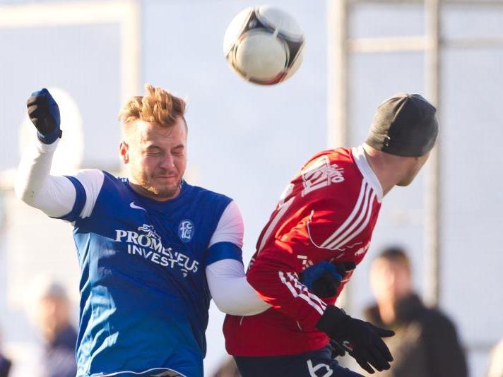 Mathias Hopfer spielte nach einer langen Verletzungspause wieder 45 Minuten im Test in Andelsbuch.