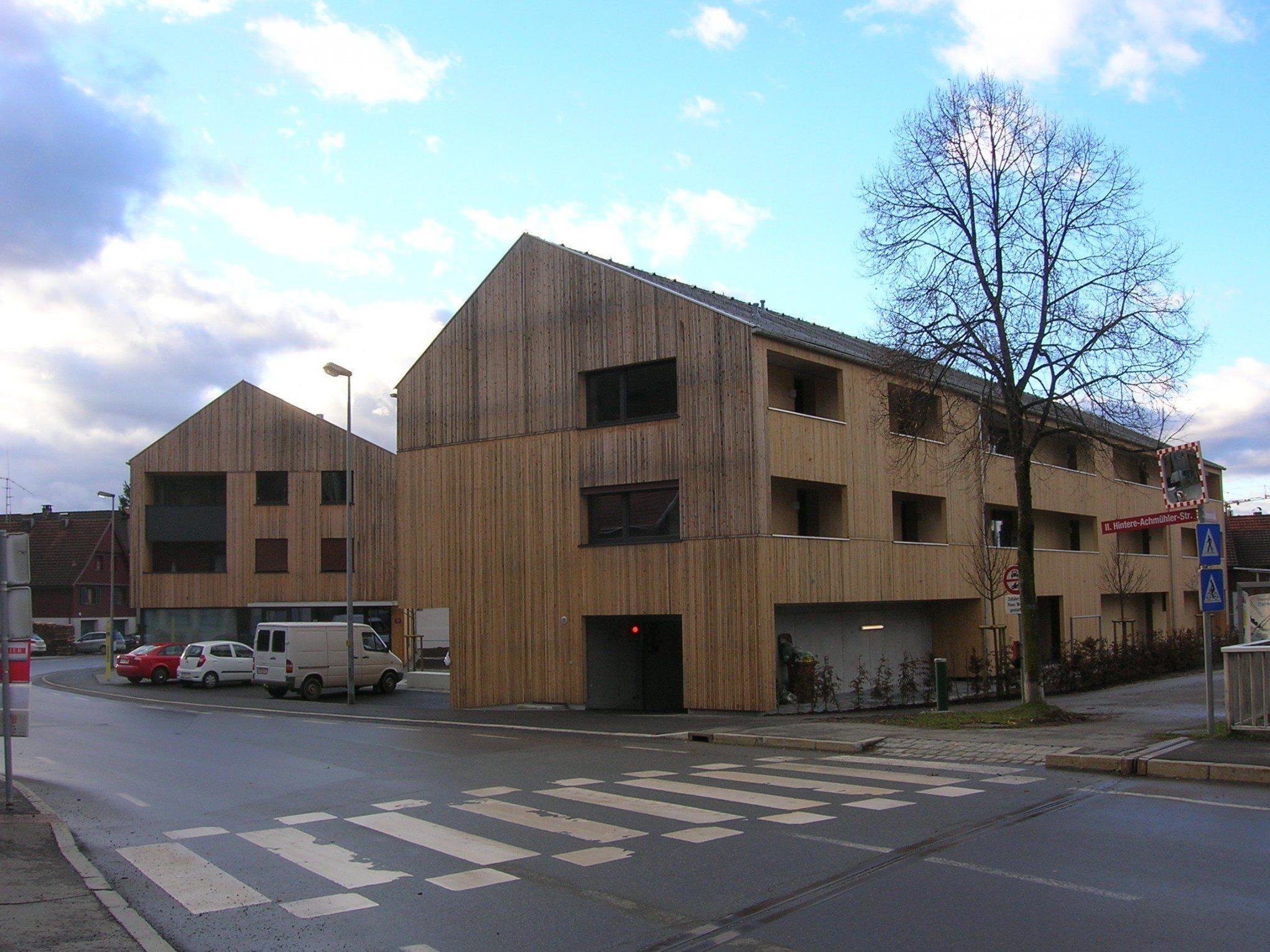In diesem VOGEWOSI-Projekt in der Hinteren Achmühle wurden 17 Mietwohnungen bezogen.