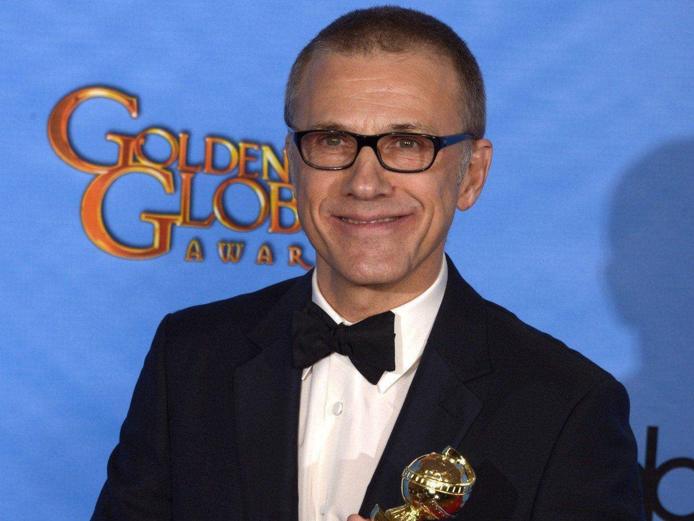 """Golden Globe für Christoph Waltz als Kopfgeldjäger King Schultz in """"Django Unchained""""."""