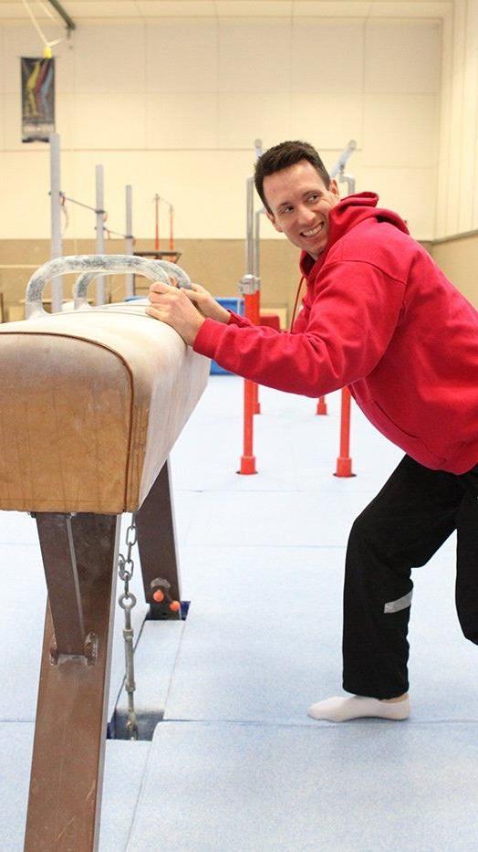 Kunstturner Marco Baldauf hat seinen Trainingsstützpunkt Innsbruck in seine Heimat Dornbirn verlegt.