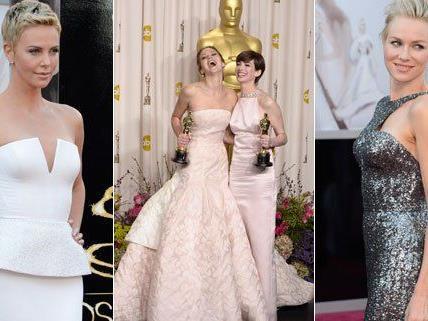Schulterfrei und der Nude-Look waren bei den Damen der Oscars gefragt