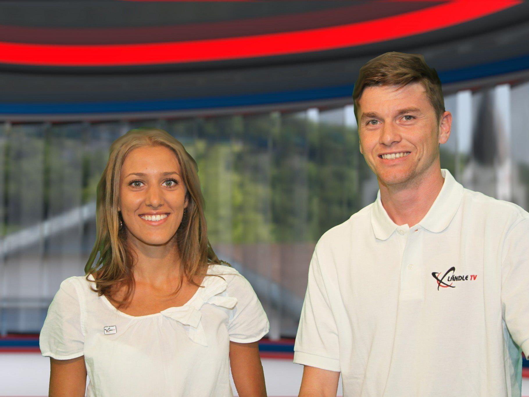 Bianca Oberscheider und Marc Gächter sind mit Ländle TV ab sofort täglich im Montafon zu sehen
