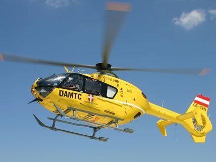 Ein Notarzthubschrauber wurde zum Unfall auf der A2 gerufen
