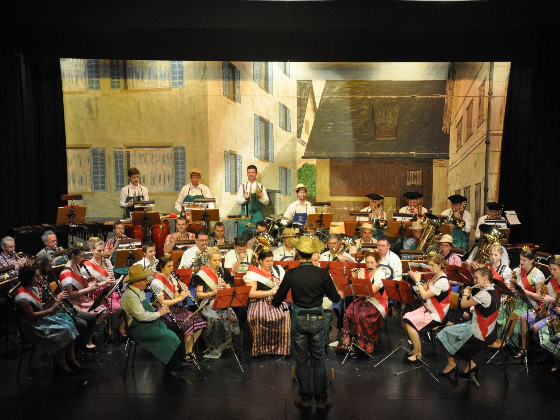 Die Bürgermusik Rankweil lud zur traditionellen Rankweiler Brennessel und sorgte für viel Stimmung.