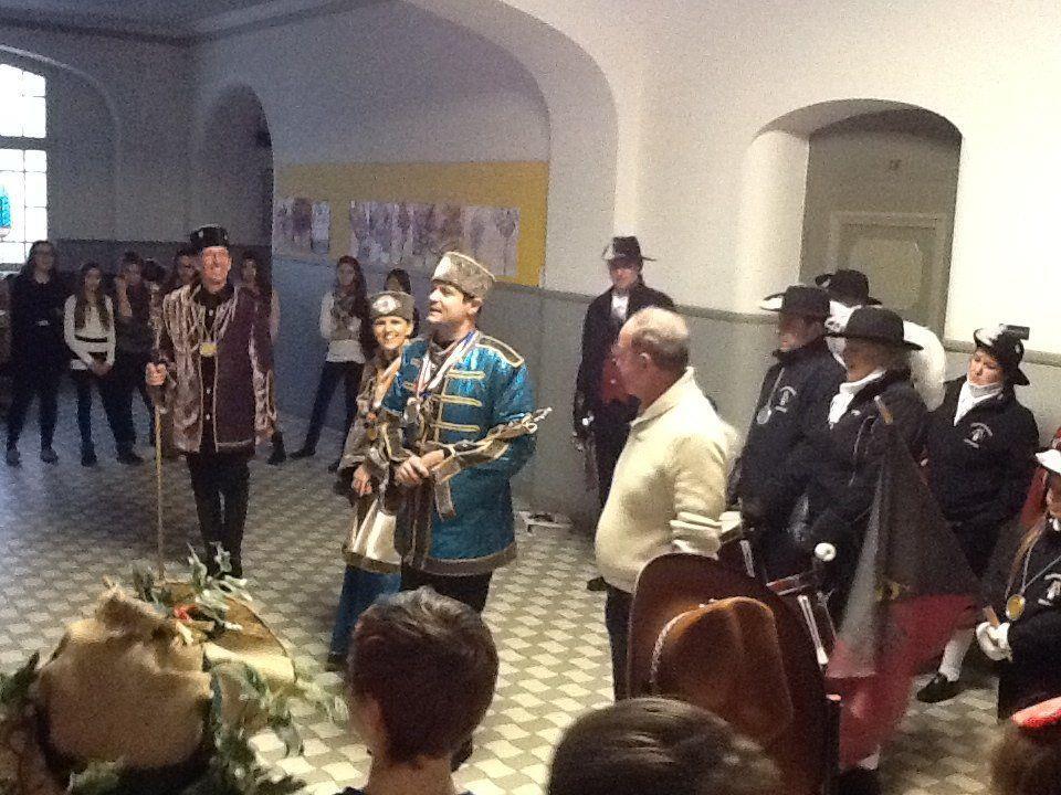 Prinzenpaar der Herzen zu Gast zu Gast in der VMS Bregenz-Stadt
