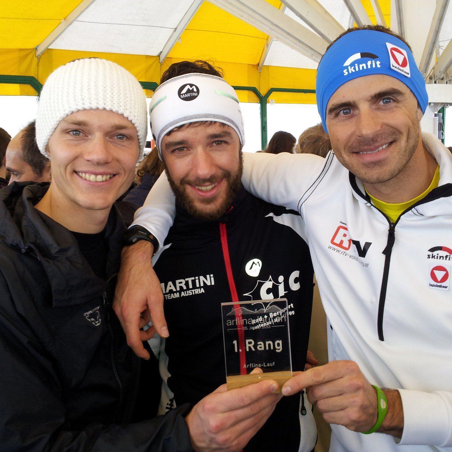 Das Skibergsteigen Trio Hämmerle, Graf und Innerhofer sind auch dabei.